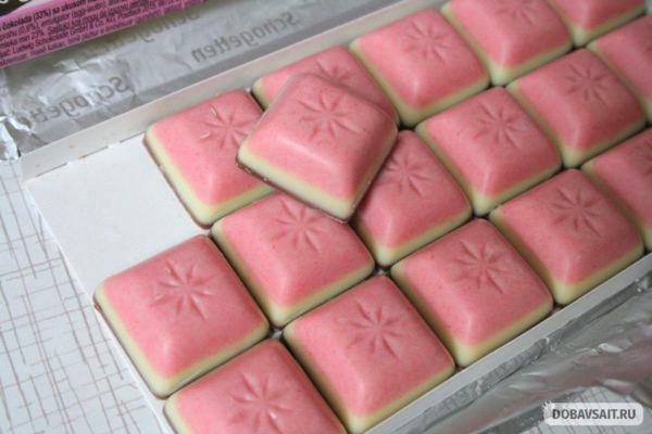 Шоколад изначально поделен на маленькие кусочки