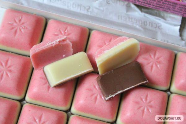 При разрезании пополам шоколад распался на составляющие