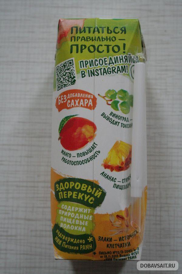 """Easy Смузи Манго +4 злака фирмы """"Сады Придонья"""""""