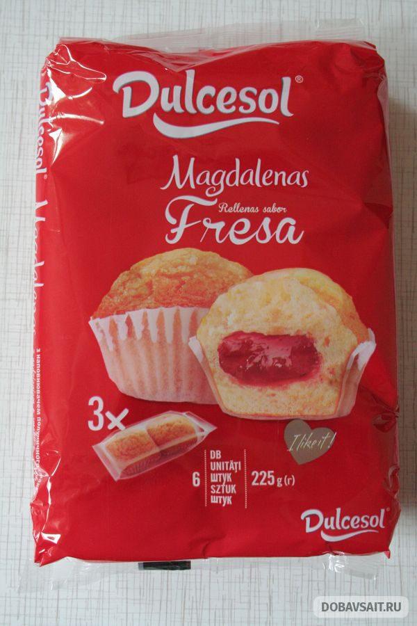 """Кексы с клубничной начинкой марки """"Dulcesol"""""""