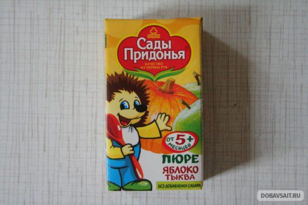 """Пюре со вкусом """"яблоко-тыква"""" фирмы """"Сады Придонья"""""""