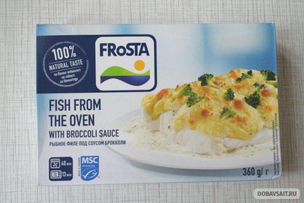 Рыбное филе под соусом Брокколи FRoSTA